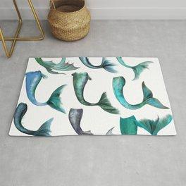 Mermaid Tails (Color) Rug