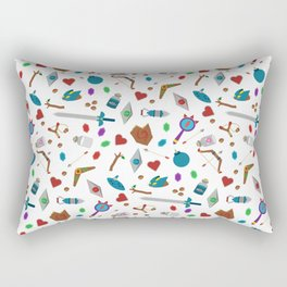 Zelda A Collection of Items Vector Pattern Rectangular Pillow