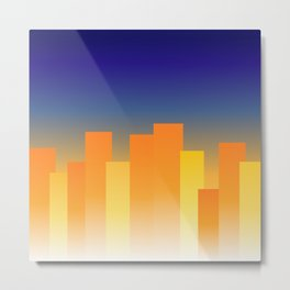 Simple City Sunset Metal Print