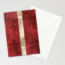 Vintage Aged and Scratched Latvian Flag Stationery Cards