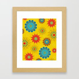 Psycho Flower Gold Framed Art Print