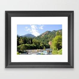 Elwha River, Olympic National Park, Washington Framed Art Print