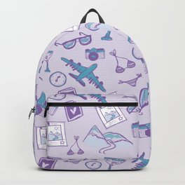 World travel memories sketch pattern Backpack