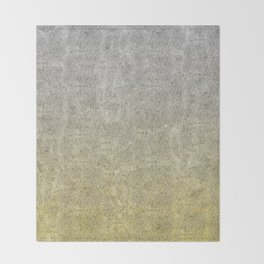 Silver and Gold Glitter Gradient Throw Blanket