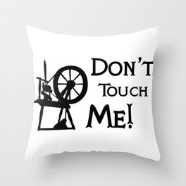 don't touch me bounding Throw Pillow