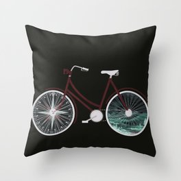 Cycle Adventure Throw Pillow