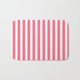 Pink & White Stripes Bath Mat