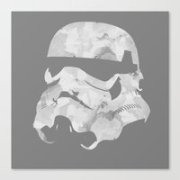 stormtrooper Canvas Prints featuring Stormtrooper by DanielBergerDesign