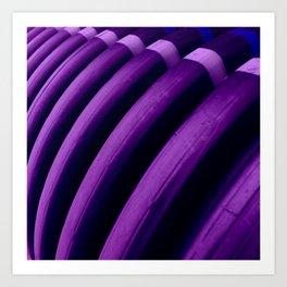 Violet Curves. Fashion Textures Art Print
