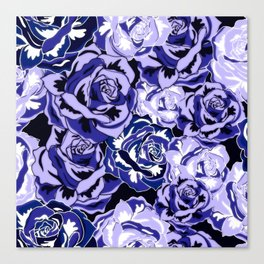 Beautiful Violet Roses Canvas Print