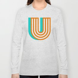 Letter U Long Sleeve T-shirt