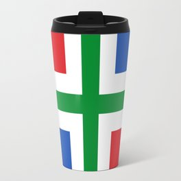 Flag of Groningen (province) Travel Mug