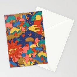 Celestial Mushroom Dream Stationery Cards