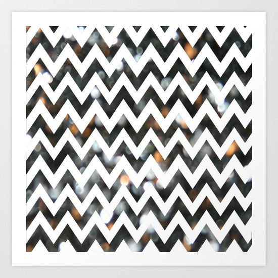 Chevron Glitter Art Print