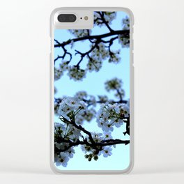 Early Morning Pear Blossom Clear iPhone Case