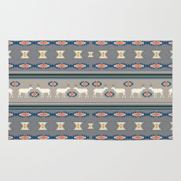 Decorative Christmas pattern with deer Rug