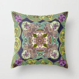 Intricate Garden Throw Pillow