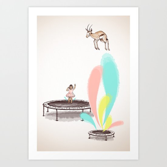 Gazelles Make Bad Friends Art Print