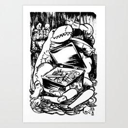 PUPPET MONSTER'S BOX Art Print