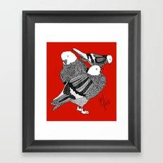 Red Pigeons Get Fat Framed Art Print
