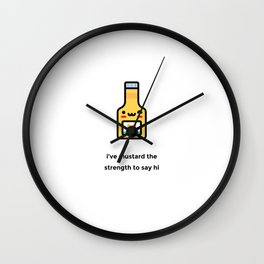 JUST A PUNNY MUSTARD JOKE! Wall Clock