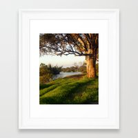 aelwen Framed Art Prints featuring On the banks of the River by Chris' Landscape Images & Designs