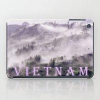 vietnam iPad Cases featuring FOGGY MOUNTAIN - VIETNAM - ASIA by CAPTAINSILVA