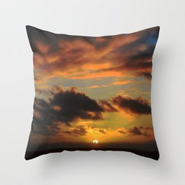 Spectacular Tropical Paradise Sunset Over Ocean Throw Pillow