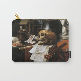 Vintage Vanitas- Still Life with Skull 3 Carry-All Pouch