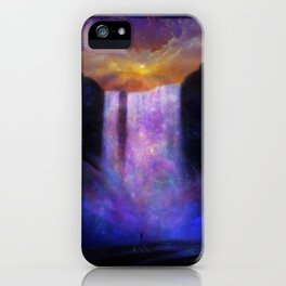 Galaxy waterfall iPhone Case