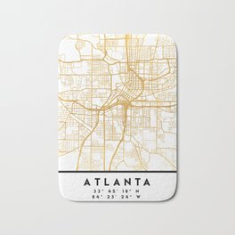 ATLANTA GEORGIA CITY STREET MAP ART Bath Mat