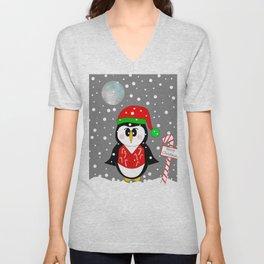 Christmas Penguin Unisex V-Neck