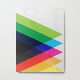 Abstract and minimalist pattern Metal Print