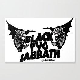 Pug Sabbath Canvas Print