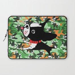 Mirabelle the boston terriers green camo Laptop Sleeve
