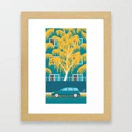 An Autumn at Home Framed Art Print