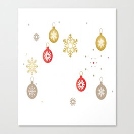 Christmas Day Ornaments Canvas Print