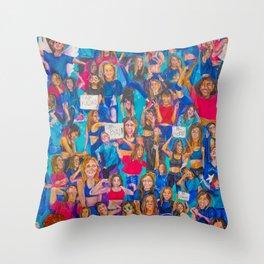 Girl Gang Strong Throw Pillow