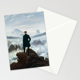 Wanderer above the Sea of Fog Painting by Caspar David Friedrich Stationery Cards