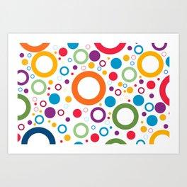 Circle and ring design Art Print