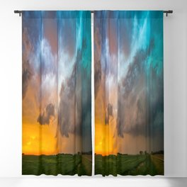 Glorious - Stormy Sky and Kansas Sunset Blackout Curtain