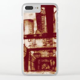 Mr. Incredible Sketches an Alley Clear iPhone Case