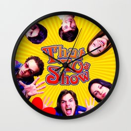Yellow that 70s Wall Clock
