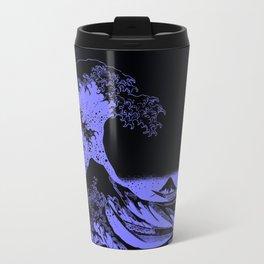 The Great Wave Periwinkle Lavender Travel Mug