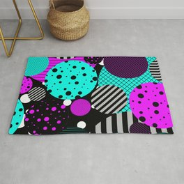 Circles, Bubbles And Stripes Rug
