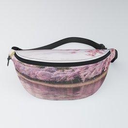 Cherry Blossom River Fanny Pack