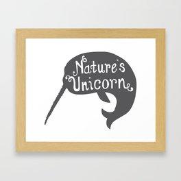 Narwhal Nature's Unicorn Framed Art Print