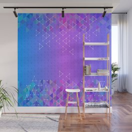 Colorful triangle background Wall Mural