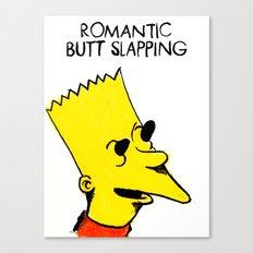 Romantic Butt Slapping Canvas Print