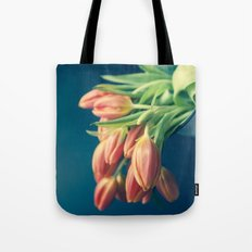 Pouring Out Tulips - Orange  Tote Bag